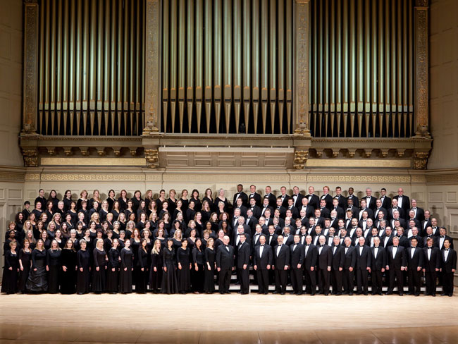 Photo of the Tanglewood Festival Chorus on its 40th anniversary